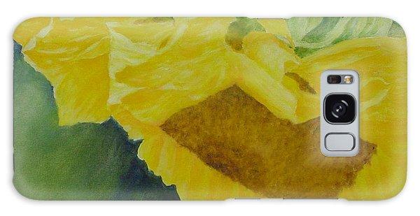 Sunflower Original Oil Painting Colorful Bright Sunflowers Art Floral Artist K. Joann Russell  Galaxy Case