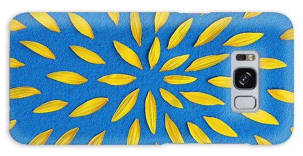 Sunflower Petals Pattern Galaxy Case