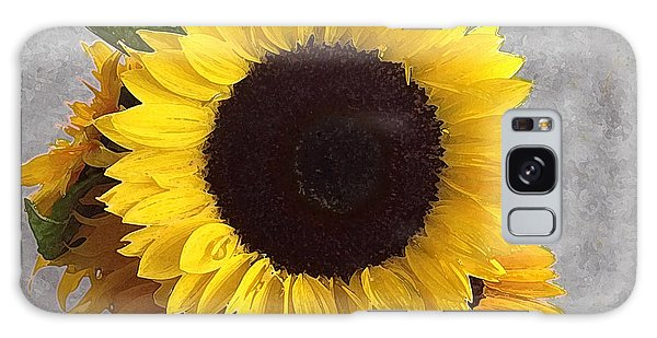 Sunflower Photo With Dry Brush Filter Galaxy Case