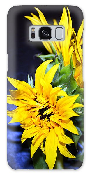 Sunflower Portrait Galaxy Case