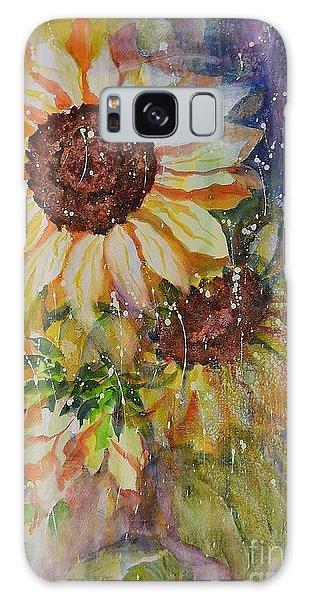Sunflower Rain Galaxy Case by Kathleen Pio