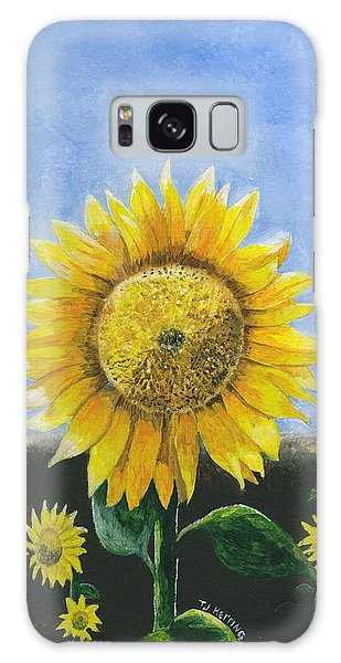 Sunflower Series One Galaxy Case by Thomas J Herring