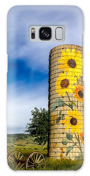 Sunflower Silo Galaxy Case by Teri Virbickis