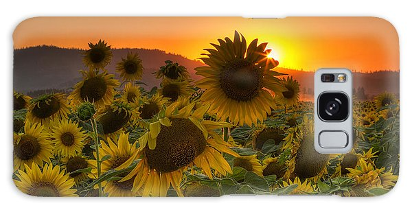 Sunflower Sun Rays Galaxy S8 Case
