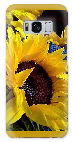 Sunflower Sunny Yellow In New Orleans Louisiana Galaxy Case by Michael Hoard