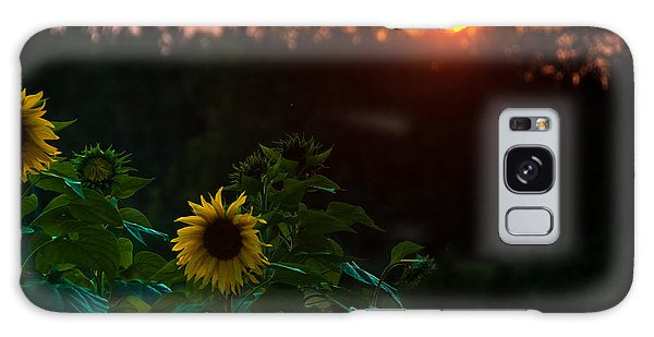 Sunflower Sunset Galaxy Case by Cheryl Baxter
