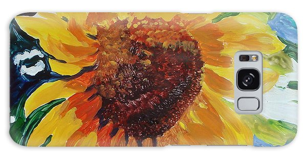 Sunflower Tile  Galaxy Case by Susan Duda