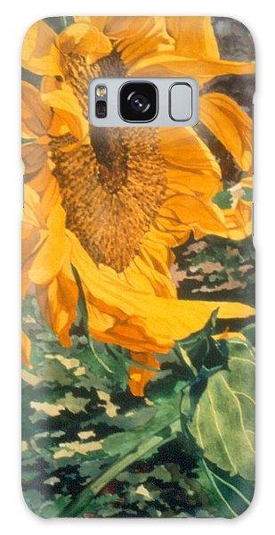 Sunflower Watercolor Painting Beautiful Flowers Sun Flower Garden Art Floral Artist K. Joann Russell Galaxy Case