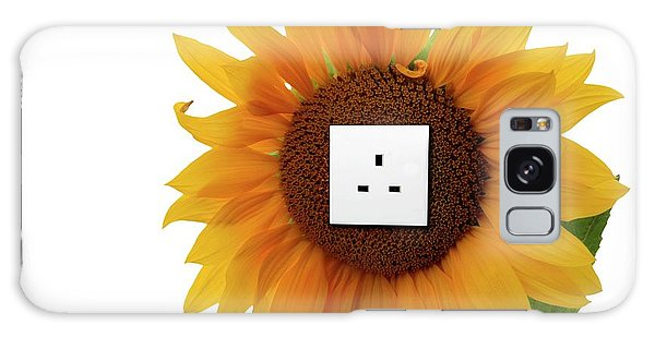 Scientific Illustration Galaxy Case - Sunflower With An Electrical Socket by Victor De Schwanberg