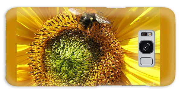 Sunflower With Bee Galaxy Case by Jeepee Aero
