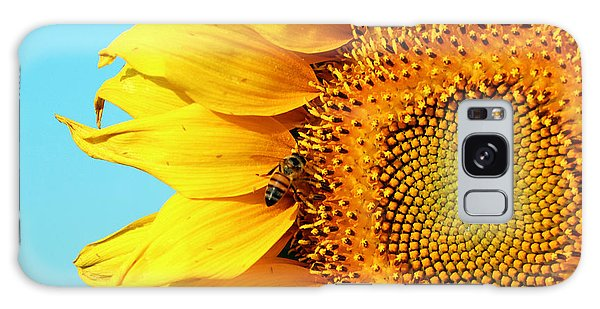 Sunflower With Bee - Photo Galaxy Case