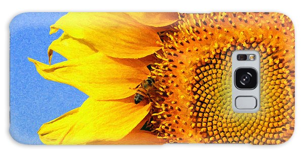 Sunflower With Bee Galaxy Case