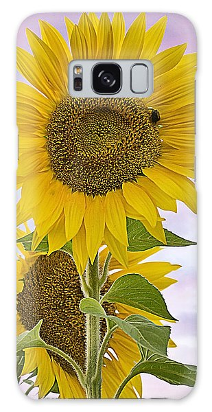 Sunflower With Colorful Evening Sky Galaxy Case