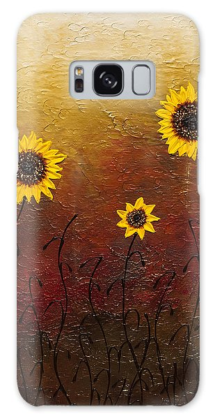 Sunflowers 2 Galaxy Case by Carmen Guedez