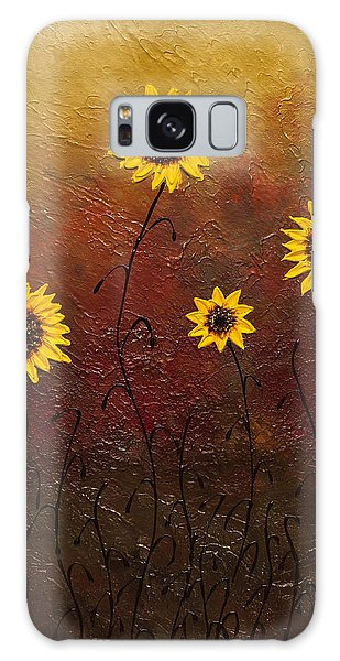 Sunflowers 3 Galaxy Case by Carmen Guedez