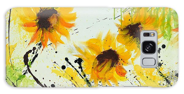 Sunflowers - Abstract Painting Galaxy Case by Ismeta Gruenwald