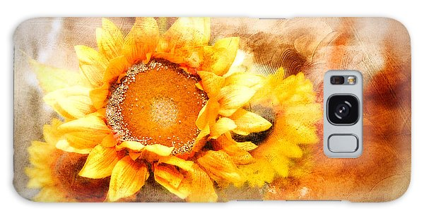 Sunflowers Aglow Galaxy Case by Mary Timman