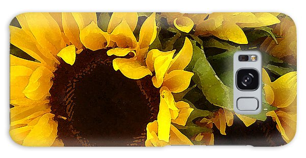 Mixed-media Galaxy Case - Sunflowers by Amy Vangsgard