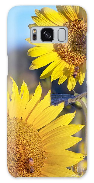 Sunflowers And Bees Galaxy Case