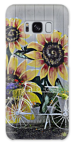 Sunflowers And Bicycle Galaxy Case