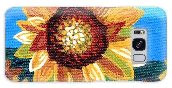 Sunflowers And Blue Sky Galaxy Case by Genevieve Esson