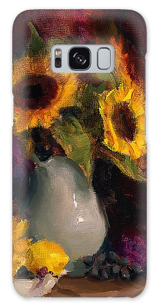 Sunflowers And Porcelain Still Life Galaxy Case