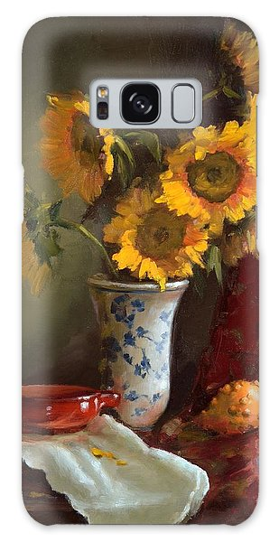 Sunflowers And Red Saucer Galaxy Case