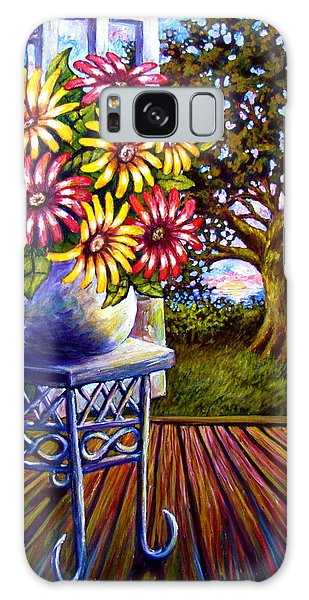 Sunflowers And The Oak Tree Galaxy Case