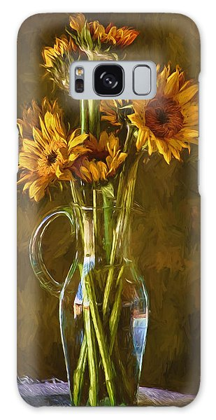 Sunflowers And Vase Galaxy Case