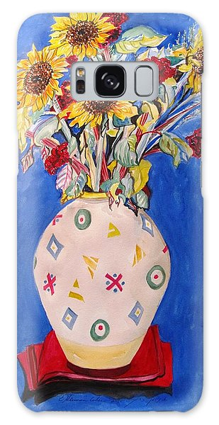 Sunflowers At Home Galaxy Case by Esther Newman-Cohen