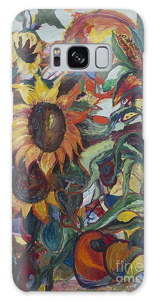 Sunflowers Galaxy Case by Avonelle Kelsey