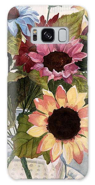 Sunflowers Galaxy Case by Barbara Jewell