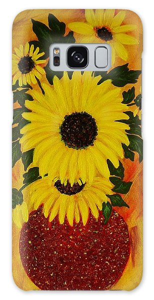 Sunflowers Galaxy Case by Celeste Manning