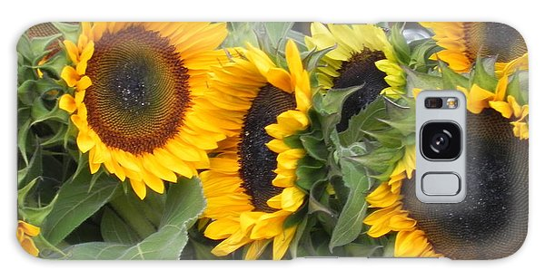 Sunflowers  Galaxy Case by Chrisann Ellis