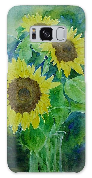 Sunflowers Colorful Sunflower Art Of Original Watercolor Galaxy Case