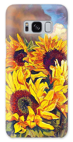 Sunflowers Galaxy Case by David Randall