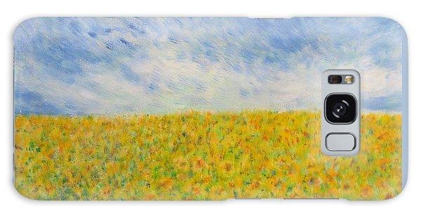 Sunflowers  Field In Texas Galaxy Case
