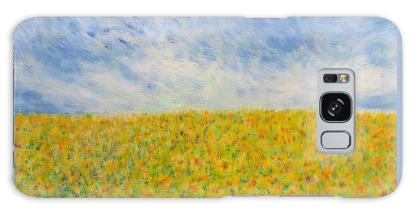 Sunflowers  Field In Texas Galaxy Case