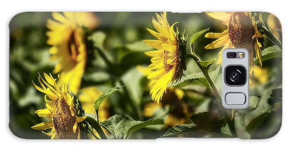 Galaxy Case featuring the photograph Sunflowers In The Wind by Steven Sparks