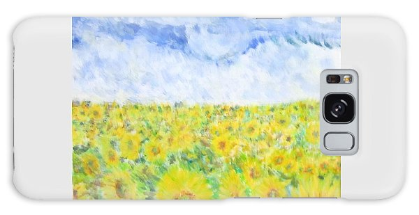 Sunflowers In A Field In  Texas Galaxy Case