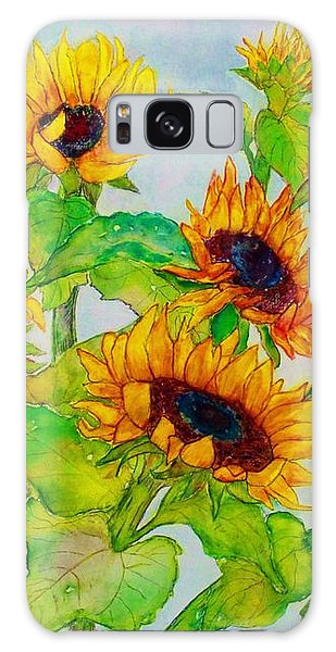 Sunflowers In A Field Galaxy Case