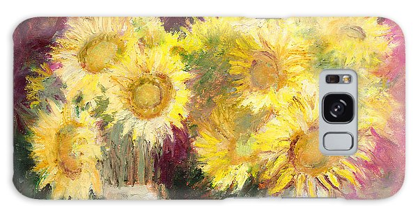 Sunflowers In Jars Galaxy Case