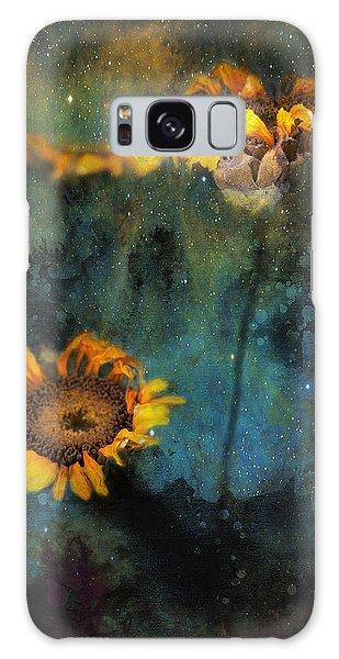 Sunflowers In Night Sky Galaxy Case