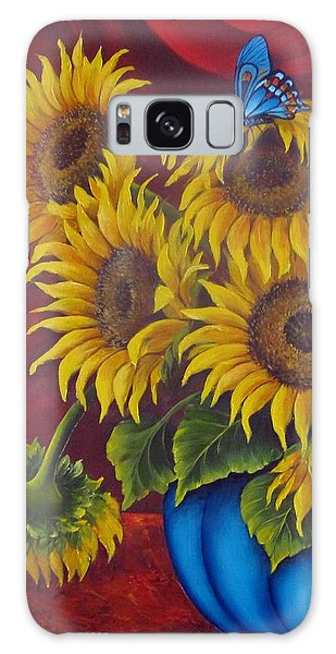 Sunflowers Galaxy Case by Katia Aho