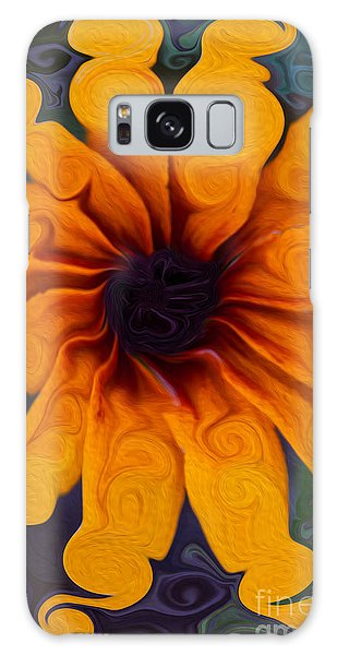 Sunflowers On Psychadelics Galaxy Case