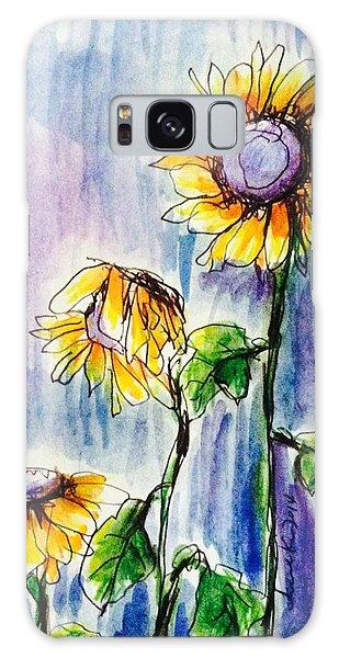 Sunflowers On Rainy Day Galaxy Case