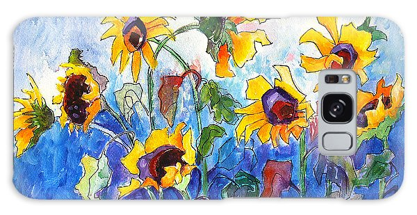 Galaxy Case featuring the painting Sunflowers by Priti Lathia