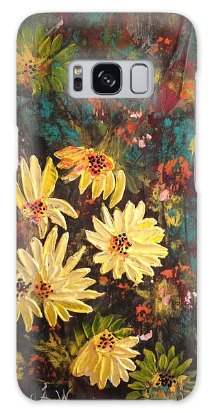 Sunflowers Galaxy Case by Sima Amid Wewetzer