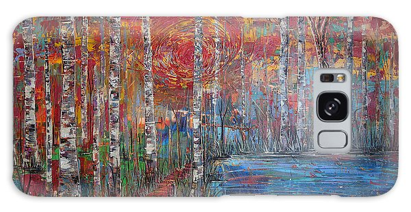 Sunlit Birch Pathway Galaxy Case