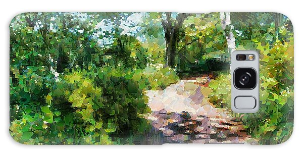 Sunlit Garden Path Galaxy Case